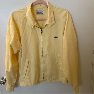 Lacoste Izod Vintage Yellow Bomber Jacket
